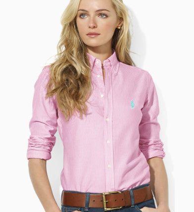 b01e33d3e20f3 Camisa Social Ralph Lauren Feminina na Import Clothes