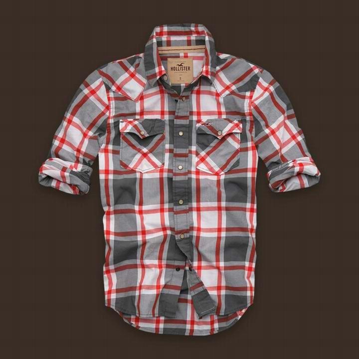 bafda84ffd Camisa Xadrez Hollister Masculina na Import Clothes