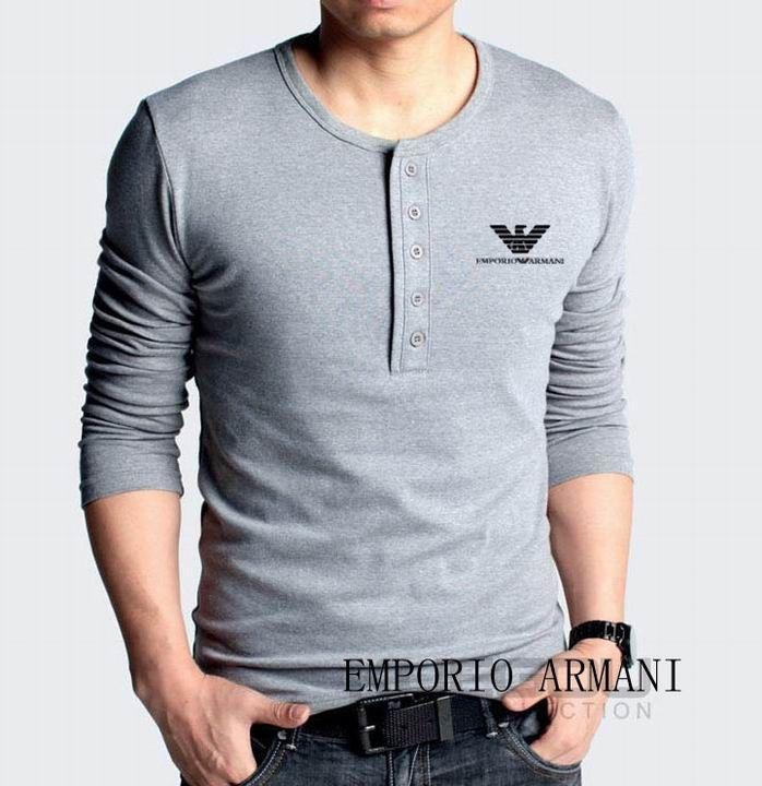 fc53be8733 Camiseta Manga Longa Armani Masculina na Import Clothes