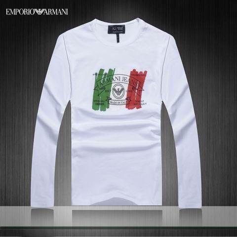 c524eed8431ae Camiseta Manga Longa Armani Masculina na Import Clothes