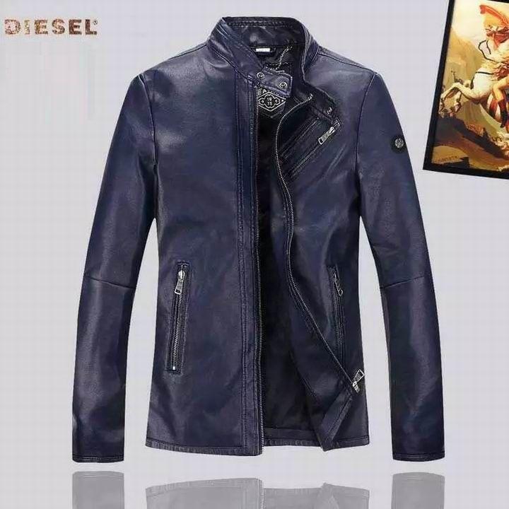 dacdcf95b8631 Jaqueta de Couro Diesel Masculino na Import Clothes
