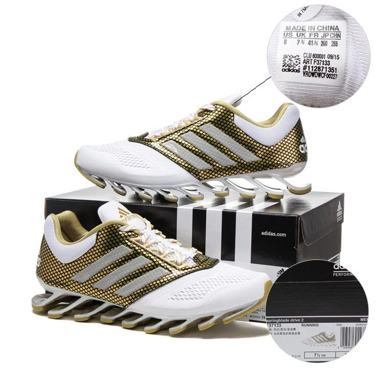 outlet store 54a09 5fe0a ... tênis adidas springblade drive 2.0 gold masculino .