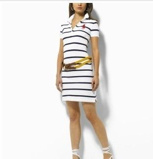 Vestido Listrado Polo Ralph Lauren na Import Clothes 3334b9b1653